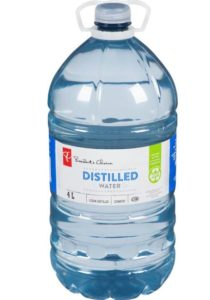 Distilled Bottled Water
